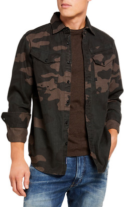 G Star Men's Lecite Camo Straight Sport Shirt
