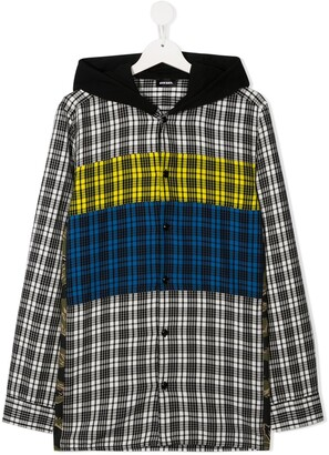 Diesel Hooded Check-Pattern Shirt
