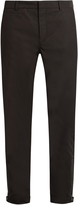Lanvin Zip-cuff cotton-drill biker trousers