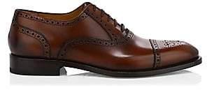 Paul Stuart Men's Lucian Cap-Toe Leather Brogues