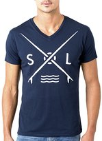 Sol Angeles Surf Club V-Neck Tee - Indigo