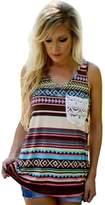 Nation Ltd. Nation Women's Fashion Sleeveless Print Pocket Tank Top (XL, color)