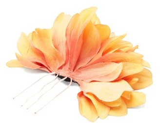 Philippa Craddock - Dahlia Hair Clip - Yellow
