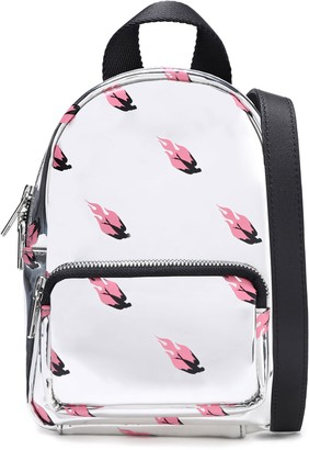 McQ Printed Faux Mirrored-leather Backpack