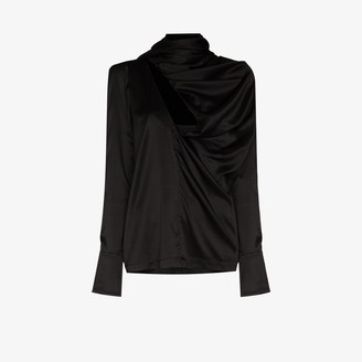 MATÉRIEL Silk Scarf Blouse