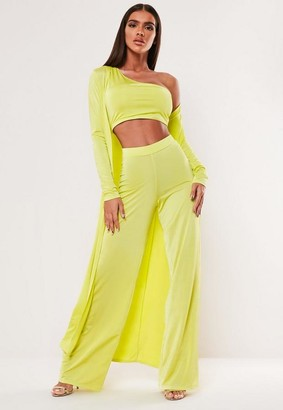 Missguided Lime Maxi Duster Jacket