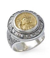 Konstantino Men's and Bronze Constantine XI Round Ring - Size 10