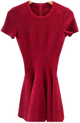 Alaia Red Wool Dress for Women