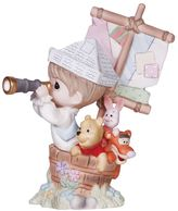 Precious Moments Disney's Winnie The Pooh ''Good Friends'' Boy In Ship With Pooh Figurine by
