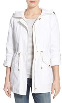 Ellen Tracy Women's Roll Sleeve Sail Cloth Anorak