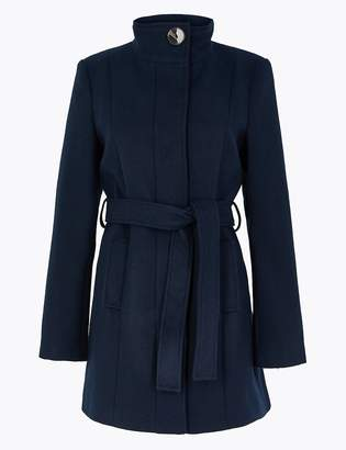 Marks and Spencer Soft Touch Belted Coat