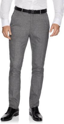 yd. Pewter Cadillac Skinny Textured Dress Pant