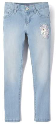 Children's Place The Girls 4-16 Unicorn Graphic Skinny Jeans