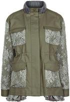 Leur Logette Khaki Lace Patch Military Jacket