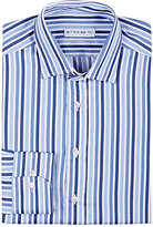 Etro Men's Mixed-Stripe Cotton Poplin Shirt-BLUE
