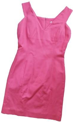 Emmanuelle Khanh Pink Cotton Dress for Women Vintage