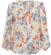 Joie Amatite Multicolour Floral Print Silk Blouse