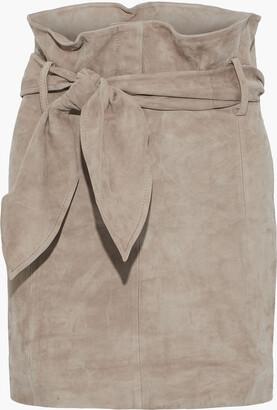 IRO Belted Suede Mini Skirt