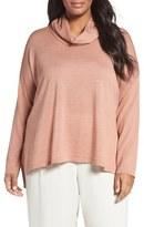 Eileen Fisher Plus Size Women's Cowl Neck Ultrafine Merino Wool Sweater
