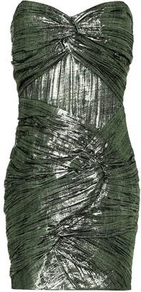 Jonathan Simkhai Metallic plisse minidress