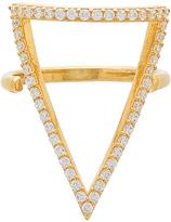 Natalie B Ottoman Pave Bermuda Triangle Ring