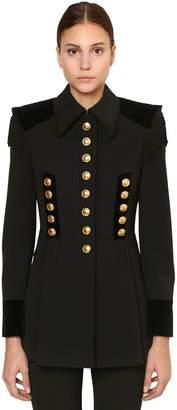Alberta Ferretti Stretch Wool Blend Gabardine Jacket