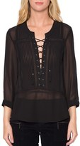 Willow & Clay Women's Sheer Long Sleeve Blouse