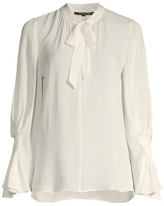 Kobi Halperin Jocelyn Draped Silk Blouse