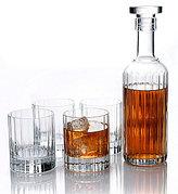 Luigi Bormioli Bach 5-Piece Retro Whiskey Decanter Set