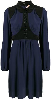 No.21 Corduroy Panel Shirt Dress