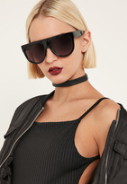 Missguided Black Flat Top Sunglasses