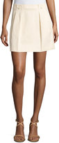 See by Chloe Pleated A-Line Skirt, Beige