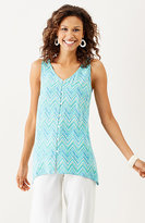 J. Jill Printed Button-Front Tank
