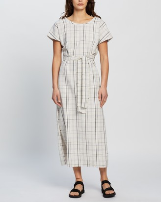 Nude Lucy Wren Check Midi Dress