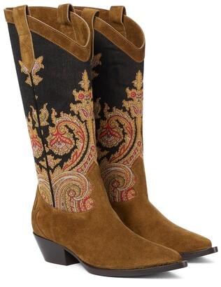 Etro Suede cowboy boots