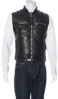 DSQUARED2 Leather Down Vest