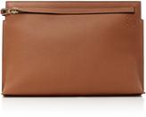 Loewe T Embossed Leather Clutch