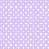 686 SheetWorld Fitted Basket Sheet - Pastel Lavender Polka Dots Woven - Made In USA - 13 inches x 27 inches (33 cm x cm)