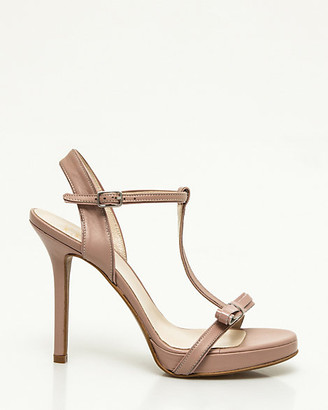 Le Château Italian-Made Leather T-Strap Sandal