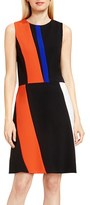 Vince Camuto Women's Colorblock Sleeveless A-Line Dress