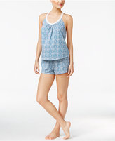 Lucky Brand Lace-Trimmed Racerback Top and Shorts Pajama Set