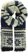 Forever 21 FOREVER 21+ Striped Fair Isle Scarf