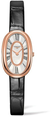 Longines Symphonette Leather Strap Watch