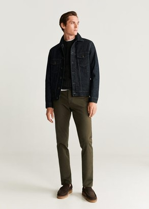 MANGO MAN - Slim fit chino premium pants khaki - 28 - Men