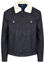 A.p.c. Bass Faux Shearling-trimmed Denim Jacket