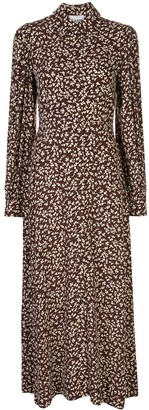 Ganni Floral Print Shirt Dress