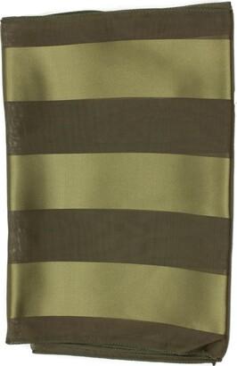 Mytoptrendz Ladies Plain Khaki Green Scarf Soft Feel Chiffon Shiny Satin Striped Scarf Thin Lightweight Versatile Dress Scarves