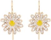 Alison Lou Diamond, enamel & yellow-gold Daisy earrings