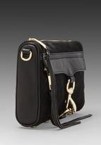 Rebecca Minkoff Haircalf Mini Mac in Black/Black