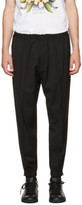 DSQUARED2 Black Wool Evening Trekking Trousers